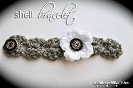bracelet crochet patterns images Crochet shell bracelet free crochet pattern my merry messy life jpg
