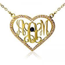 Gold Monogram Necklace Cheap Monogram Necklace