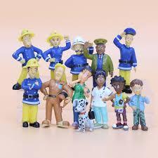 shop 12pcs fireman sam action figure toys 2 5 6cm cute
