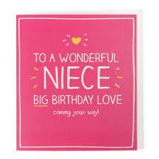 love niece birthday card