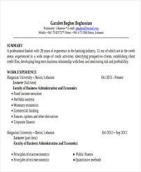 banking resume pdf free u0026 premium templates
