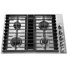 Slide In Gas Cooktop 30 In Gas Cooktops The Home Depot Cooktop Kitchenaid Kcgs550ess 5