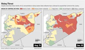 Map Of Syria Conflict by Months Of Airstrikes Fail To Slow Islamic State In Syria