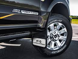 Ford F150 Truck Mud Guards - gatorback mud flaps 6 7l power stroke logo installed on a ford