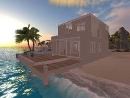 Modern Beach House Second Life Marketplace Modern Beach House Prefab