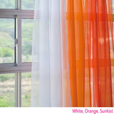 Sheer Curtains Orange Voile Silk Sheer Curtains