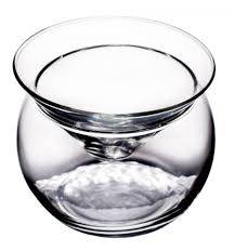 stemless martini glasses libbey martini chiller 2 piece glass 5 75 oz