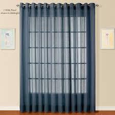 Silver And Blue Curtains Dakota Wide Sheer Grommet Curtain Panel