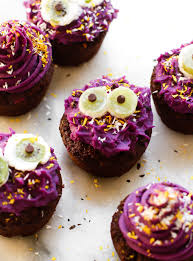 vegan halloween cupcake monsters gluten free oil free healthy