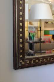 Bevelled Mirror Fine Quality 19th Century Brass Inlaid Stars Bevelled Mirror