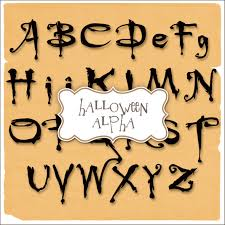 15 halloween spooky font template images scary halloween letters