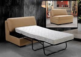 Single Sofa Bed Beige Fabric Single Sofa Bed