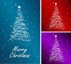 starlight christmas tree vector free vector 4vector
