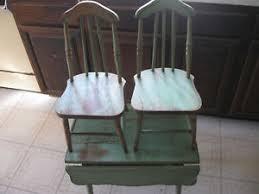 Drop Leaf Table And Chairs Vintage Kinderset Childs Drop Leaf Table And Chairs Ebay