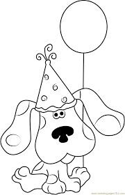 happy birthday blue clues coloring page free blue u0027s clues