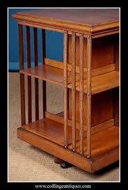 Oak Revolving Bookcase Oak Revolving Bookcase Collinge Antiques