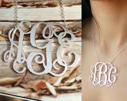3 initial monogram necklace sterling silver 3 initial monogram necklace1 5 925 sterling silver