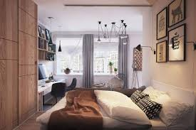 Small Bedroom With Double Bed - small modern master bedroom red wooden storage bed frame corner of