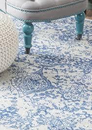 amazon com nuloom 200rzbd21b 406 light blue vintage odell area