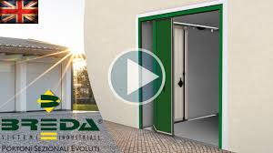folding garage door phenix side sectional door by breda the sliding is the same but