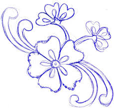 pencil sketch of flowers design drawing of sketch