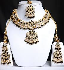 black gold necklace jewelry images Black gold wedding jewellery set online shopping shop for jpg