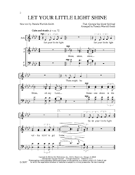 Let Your Light Shine Down Let Your Little Light Shine Satb By Warri J W Pepper Sheet Music