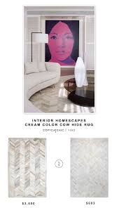 interior home scapes interior homescapes cow hide rug copycatchic