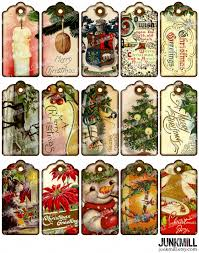 victorian gift tags digital printable collage sheet