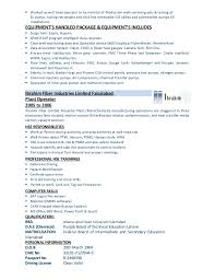 Job Description For Machine Operator Resume by Production Operator Job Resume Corpedo Com