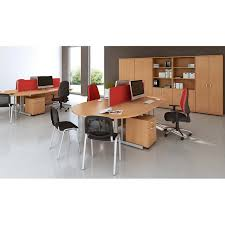 Deep Office Desk Desk High Wooden Office Storage Cupboard In White Beech Maple