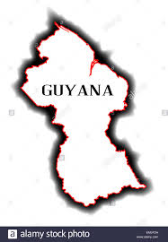 Empty Map Of South America by Outline Blank Map Of The South American Country Of Guyana Stock