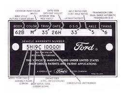 ford falcon vin decoder instructions