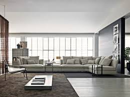 canapé grand très grand canapé d angle en tissu gris clair favorite interior