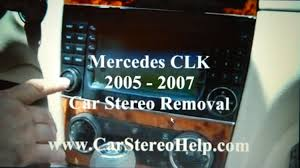 how to mercedes clk bose stereo removal 2005 2007 replace repair