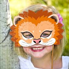 lion mask craft lion mask printable animal masks childrens party pdf