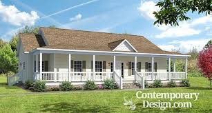 ranch house with wrap around porch style house with wrap around porch