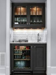 kitchen vintage wet bar with black and white counter also