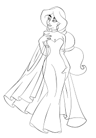 jasmine in wedding dress coloring page aladdin pages of