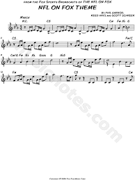 theme song luther nfl on fox theme from nfl on fox sheet music leadsheet in c