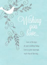 wishing you love wedding congratulations card wedding