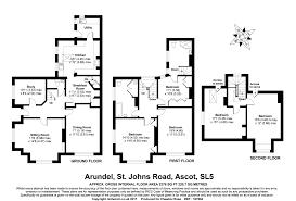 arundel castle floor plan 5 bedroom semi detached house st johns road ascot 1 050 000