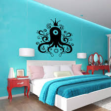 aliexpress com buy cartoon crown octopus fish vinyl wall decal