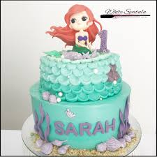 mermaid cakes mermaid buttercream cake white spatula