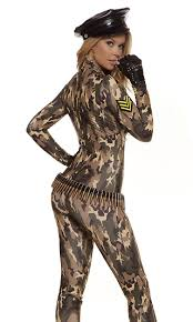 Womens Camo Halloween Costumes Charming Cadet Soldier Costume Forplay Halloween