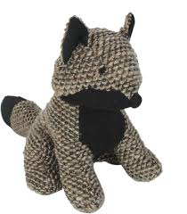 weighted door stop knitted fox weighted character doorstop ds014 br by cimc