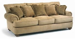 Flexsteel Sleeper Sofa Reviews Flexsteel Patterson Stationary Sofa With Rolled Arms Wayside