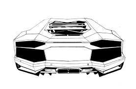lamborghini sketch exotic car drawing lamborghini aventador tail art postcard