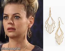 gh maxies hair feb 13th 2015 maxie jones s art deco cutout earrings general hospital season