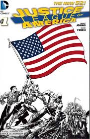 justice league of america 1 usa flag cover rrp sketch comicspro